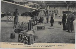 CPA Publicité Publicitaire Réclame Circulé Aviation Auto Mobiline Huile - Advertising