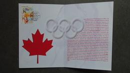 FRANCE CEF Document Millénium 1er Jour JEUX OLYMPIQUES D'HIVER DE VANCOUVER 2010 - Timbre Poste - 2010-....