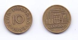 Saarland 10 Franken 1954 - [ 8] Saarland