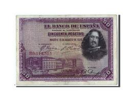 Espagne, 50 Pesetas, 1928, KM:75b, 1928-08-15, TB+ - 50 Pesetas