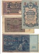 Russia Germania Austria Spagna 7 Banconote Antiche 1902 - 1945  LOTTO 1492 - Russia