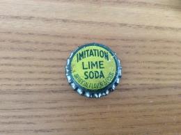 "Ancienne Capsule De Soda ""IMITATION LIME SODA"" Etats-Unis (USA) (intérieur Liège) - Soda"
