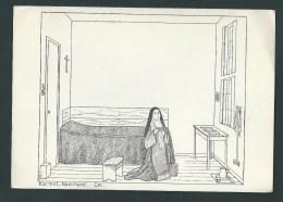 Limbourg.  Roermond. Karmel. Une Carmélite Prie Dans Sa Petite Chambre. Illustration. Voyagée En 1949. 2 Scans. - Autres