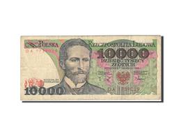 Pologne, 10,000 Zlotych, 1987-1990, Trace De Colle, KM:151b, 1988-12-01, TB - Pologne