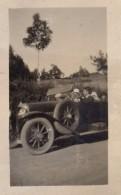 Petite Photo Originale Ballade En Torpédo Panhard-Levassor Et En Famille Vers 1920 - Automobiles