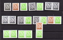 Baudouin,  Lot De Timbres De Carnet, Entre 1561 Et 1563e**, Cote 29,85 € - 1953-1972 Brillen