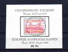 Belgique 1950   Championnat D'Europe D'athlétisme, BF 29  Ø Stadion,  Cote 50 €, - Bloques 1924 – 1960