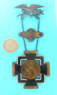 1922. ZAGREB WRESTLING CHAMPIONSHIP - Croatian Orig. Vintage Medal Badge For 2nd Place LARGE S. Lutte Ringen Lotta Lucha - Wrestling