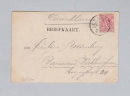 Niederlande Perfin 1900-??-04 S'Gravenhage Ansichtskarte Nach Barmen - Brieven En Documenten