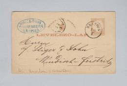 Heimat Kroatien KRAPINA 1880-01-10 Ganzsache Nach Windisch-Feistritz - Croatie