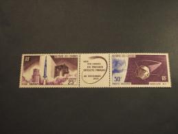 COMORES - P.A. 1965 SATELLITE In Trittico - NUOVI(++) - Unused Stamps