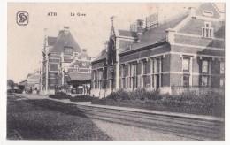 Ath: La Gare. (Erster Weltkrieg,1917, Cachet ATH)) - Ath