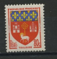 FRANCE -  BLASONS TOULOUSE - N° Yvert  1182** - 1941-66 Armoiries Et Blasons
