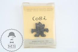 Official 1992 Barcelona Olympic Games Cobi Mascot Silver Colour Pin - Juegos Olímpicos