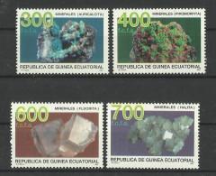 GUINEA ECUATORIAL EQUATORIAL GUINEA 1994 MINERALS SET MNH - Minerals