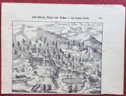 ISTRIA  IDRIA   ANTICA  STAMPA DA UNA PUBBLICAZIONE DEL VALVASSOR  (15x20) - 8. Besetzung 1. WK