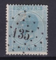N° 18 LP 135 Framerie - 1865-1866 Linksprofil