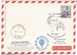 AUSTRIA CC VOLADA EN GLOBO BALLON MAIL BALLONPOST 50 VOCKLABRUCK SALZBURG - Fesselballons