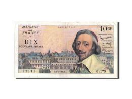 France, 10 Nouveaux Francs, 10 NF 1959-1963 ''Richelieu'', 1961, 1961-04-06,... - 1959-1966 Nouveaux Francs