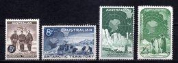 1959 AUSTRALIAN ANTARCTIC TERRITORY (AAT) DEFINITIVES MICHEL: 2-5 MNH ** - Unused Stamps