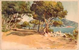 Illustrateur - Lessieux - Cap Martin, Allée Du Bord De Mer (Chocolats & Thé De La Cie Coloniale) - Lessieux