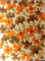 """Oeuvre Originale Et Unique Pastel Feutres  """"Pluie Florale"""" N °124  24 X 32 Cm. - Pastels"""