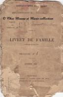 1888 - SAINT ST BONNET DE MURE - LIVRET DE FAMILLE BERNILLON - CERTIFICAT DE MARIAGE - ISERE RHONE - Documents Historiques