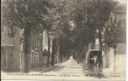 COULONGES SUR L' AUTIZE , La Route Neuve , CPA ANIMEE - Coulonges-sur-l'Autize