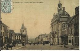 MONTDIDIER , Place De L' Hôtel De Ville , 1907 , CPA ANIMEE - Montdidier