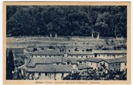 AREZZO - CORTONA - SANTUARIO DELLE CELLE (CAPPUCCINI) - PANORAMA - 1952 - Vedi Retro - Formato Piccolo - Arezzo