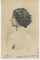 FEMMES - FRAU - LADY  - SPECTACLE - ARTISTES - Jolie Carte Fantaisie Portrait Artiste CAVALIERI - Mujeres