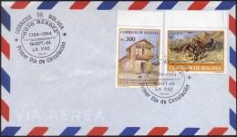 "Bolivia 1984. CEFIBOL 1214-15s FDC No Oficial. Bicentenario ""Moto"" Méndez. See Desc. - Bolivia"