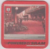 Sous-bocks :  Powered By  Scram  Vélo - Cyclisme - Beer Mats