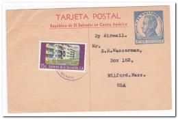 El Salvador 1963. Postletter To USA - El Salvador