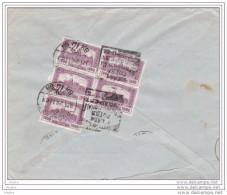 1926  - Enveloppe De Budapest, Hongrie Vers Lyon, France - Flamme Daguin - Rare  : Foire Internationale - Bloc 5 Timbres