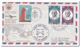 Samoa I Sisifo To Vatican, Flight Letter, Papal Flight - Samoa