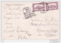 1926 - CP De Budapest, Hongrie Vers Vienne, Autriche - Flamme Daguin - Rare  : Foire Internationale - Ungheria