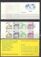 Deutschland Bund 1980 Markenheftchen MH 23 D ** (H-Bl. 28) Burgen Und Schlösser - Reklame: FIFA. Top Qualität - BRD