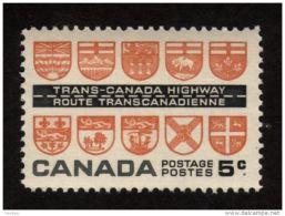 CANADA 1962, MINT # 400, TRANSCANADA HIWAY: PROVINCIAL COATS-of-ARMS. MNH - Neufs