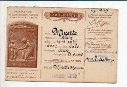 Militaria Office National Pupilles De La Nation.- Carte D'Identité Minette Alain Née à Caen Fils De... - Documents