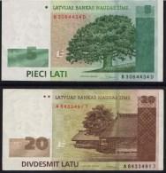 Latvia 2009 5 + 20 Lati - Latvia