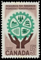 CANADA, 1961,  # 395,  RESOURCES FOR TOMORROW: HANDS & COGWHEEL, MNH - Neufs