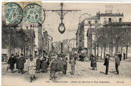 VERSAILLES - Place Du Marché Et Rue Duplessis  - Attelage    (91166) - Versailles