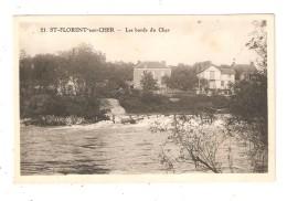 CPA 18  SAINT FLORENT Sur CHER Bords Du Cher Cours D'eau Maisons - Saint-Florent-sur-Cher