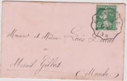 L Vieux  Papier :  Faire Part  Naissance ( Saint Aubin Des  Bois- Pour Mesnil  Gilbert  ,manche) - Naissance & Baptême