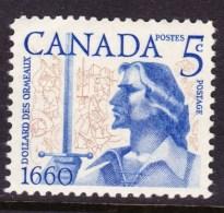 CANADA 1960, # 390. BATTLE OF LONG SAULT:   DOLLARD Des ORMEAUX  SINGLE MNH