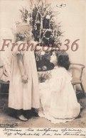 CPA Fantaisie - Petite Fille Ange Près Sapin De Noel - Angel Christmas Tree 1905 - Sent To Ecuador Equateur -   2 Scans - Anges