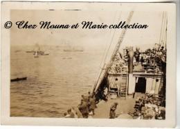 TURQUIE 1920 - BOSPHORE - A BORD D UN NAVIRE - PHOTO 9 X 6.5 CM - Bateaux