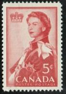 CANADA 1959, # 386.  ROYAL VISIT: QUEEN ELIZABETH 11    Mnh