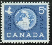 CANADA 1959, MINT, #384 NATO: GLOBE,  MNH
